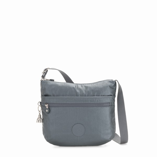 metalická cross body Kipling ARTO STEEL GR METAL