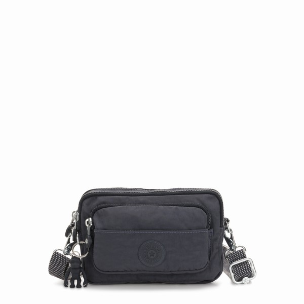 tmavá ledvinka Kipling MULTIPLE NIGHT GREY