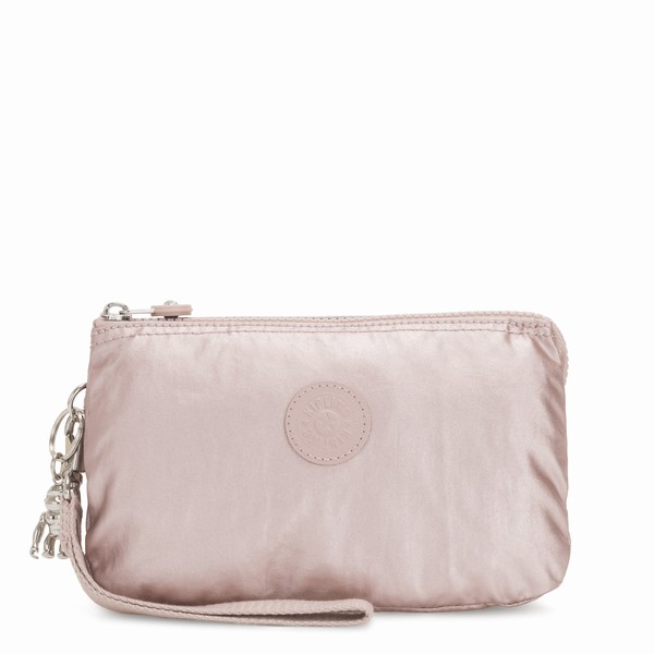 Kipling CREATIVITY XL METALLIC ROSE