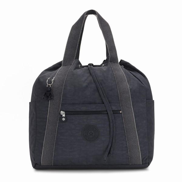 šedý batoh Kipling ART BACKPACK M NIGHT GREY