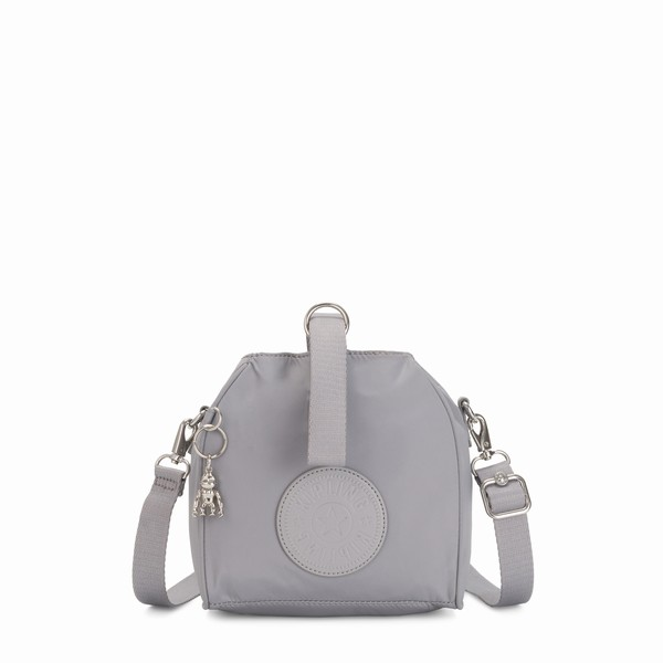 šedá mini kabelka Kipling IMMIN Natural Grey