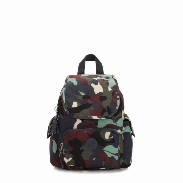 pestrobarevný batoh mini Kipling CITY PACK MINI CAMO L