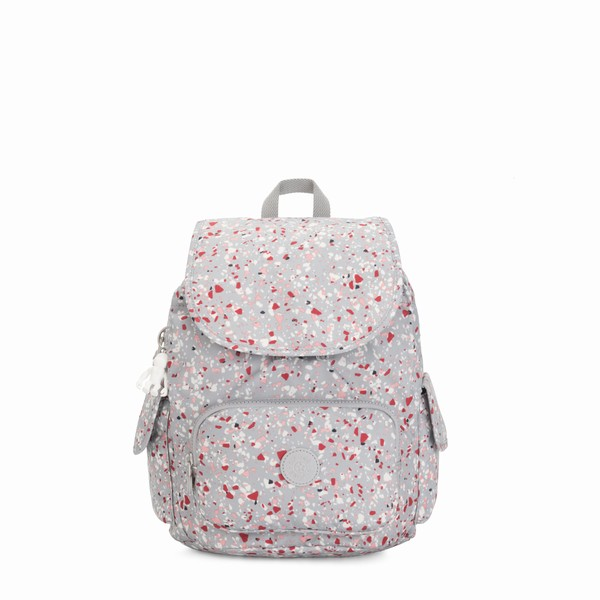 šedý batoh Kipling CITY PACK S Speckled