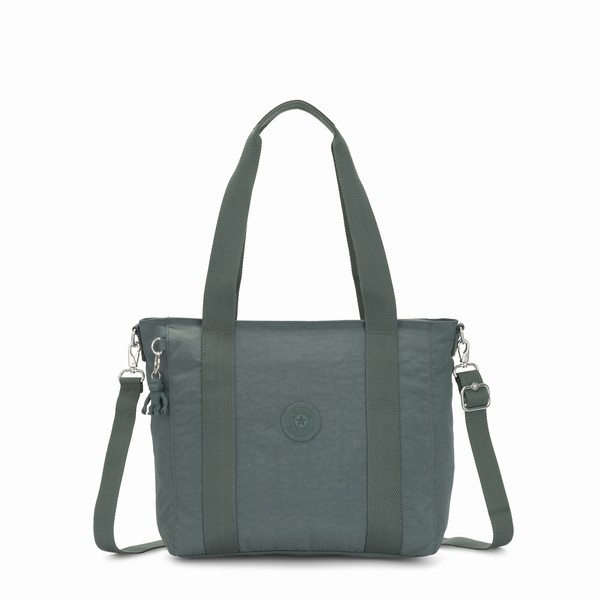 zeleá kabelka shopper Kipling ASSENI S Light Aloe