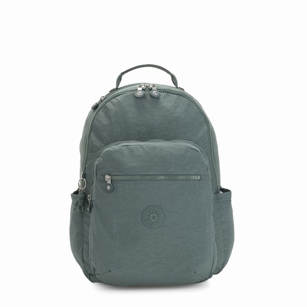 zelený batoh na notebook Kipling SEOUL Light Aloe